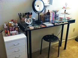 black vanity table without mirror