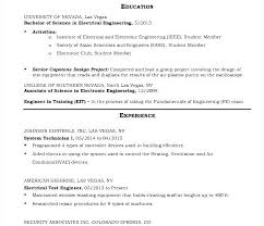 Resume For Electrical Engineer Electrical Engineer Maintenance ...