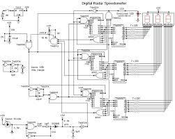 digital radar speedometer circuit and wiring diagram digital radar speedometer circuit diagram