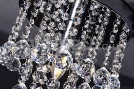 modern round led crystal chandelier balcony porch corridor aisle flush mount light