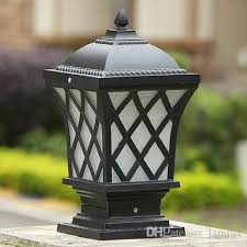 led outdoor post lamps bronze antique black gridding wall light waterproof outdoor led post light door top wall post lights bollard lamp outdoor led post