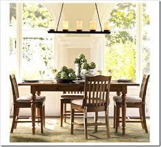 precious dining room lighting height table veranda linear chandelier via pottery barn foyer lighting heights dining