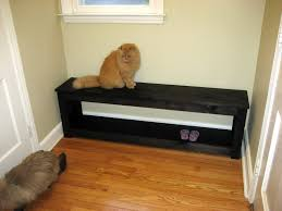 modern entryway furniture. wooden modern entryway bench in black color furniture
