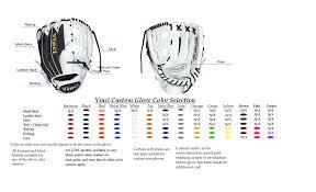 Baseball Glove Chart Custom Kip Limited Or Mesh Series Fielders Glove