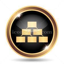 Gold Org Chart Organizational Chart Gold Icon