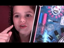 tutorial for monster high makeup sched with style beauty frankie stein set review and demo kids