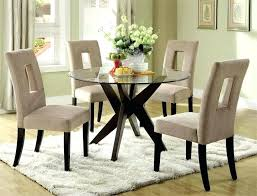 48 inch round glass top dining table cool design round glass top dining table set sets
