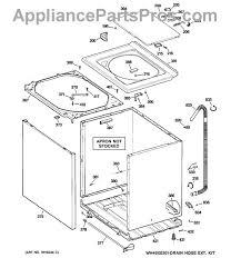 ge wh41x10096 drain hose appliancepartspros com part diagram