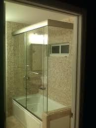shower door for tub and build bathtub doors glass miami frameless enclosures mirror sh
