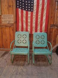 antique metal outdoor furniture. vintageheavymetaloutdoorchairs vintage 1950s turquoise metal lawn porch antique outdoor furniture a