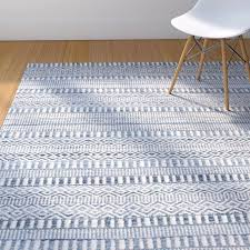 hand woven wool ivory blue area rug rugs cromwell natural by breakwater bay street natural woven area rugs birch lane hand