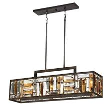photo 3 of 6 kitchen island lighting crossing in w 4 light bronze quoizel 8