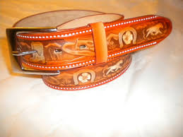 details about brand new mexican belt 100 leather with horse 1 1 2 in snap belt silver buckle