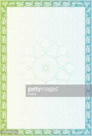 Certificado En Blanco Con Borde Azul Y Verde Vectores En Stock