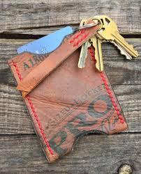 baseball glove leather card wallet