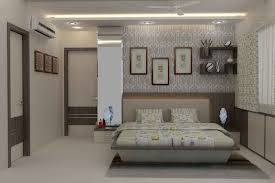 Small Picture Master Bedroom with wallpaper design by Mahendra Jadeja Interior