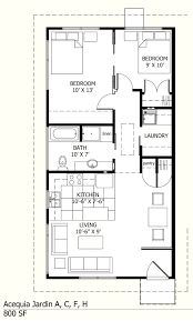 Ranch Style House Plan  2 Beds 100 Baths 800 SqFt Plan 57242800 Square Foot House Floor Plans