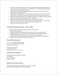 Sample Resume For Culinary Arts Student - Laizmalafaia.com