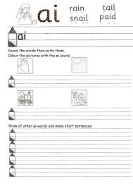 Jolly phonics worksheets for the sounds s a t i p n. Worksheets For Ai Ou Ue Etc Teaching Resources