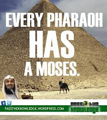 mufti-menk-every-pharaoh-has-a-moses | PASS THE KNOWLEDGE (LIGHT ... via Relatably.com