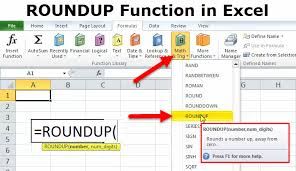 Excel Round Formulas Roundup Function In Excel Formula Examples How To Use