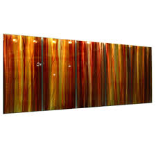 autumns prism red yellow orange contemporary metal wall art by jon allen 64 x 24  on red and brown metal wall art with autumns prism red yellow orange contemporary metal wall art by