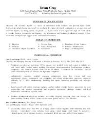 Qualifications On A Resume Examples Attorney Resume Examples Lawyer