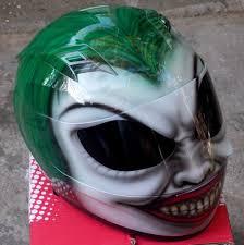 bad ass joker villain the joker helmet custom batman motorcycle