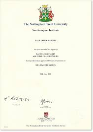 first class honours   paul barnes   digital design blogfirst class honours degree certificate   southampton institute