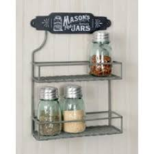 Mason Jar Two Tier Spice Rack - CTW. Click Image for Gallery