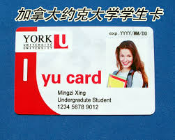 Custom Id Card University York Entertainment Student Personality Canada