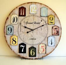 Retro Kitchen Wall Clocks 40cm Large Wood London Wall Clock Vintage Retro Antique Shabby