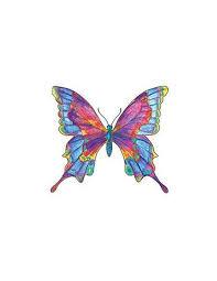Barevný Motýl Nalepovací Tetování Potetujcz