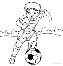 Soccer Player Coloring Pages At Getdrawingscom Free For Personal