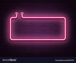 Light Neon Pink Pink Neon Luminous Signboard On Realistic