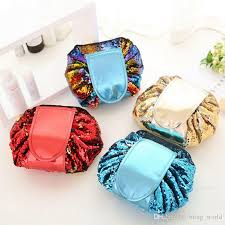 sequin cosmetic bag mermaid women makeup bags big capacity travel pouch lazy sundries women bag korea fashion 4 designs dht447 sequin cosmetic bag mermaid