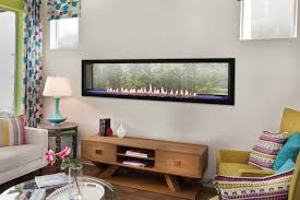 with its strong horizontal lines contemporary burner and chic accessories a boulevard linear vent free fireplace adds drama to any décor