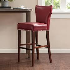 red leather bar stools. Madison Park Emilia Bar Stool. Red Chili Faux Leather Stools