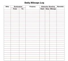 Free Log Template New Free Printable Mileage Log Template Colbroco