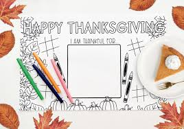Free thanksgiving coloring pages, thanksgiving printables, fall holiday activities, cute november images for coloring, and colour in sheets for students. Printable Thanksgiving Placemat Coloring Page Pineapple Paper Co