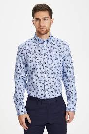 Chambrey Blue MAtrostol BD Autumn <b>Flower Shirt</b> from Matinique ...