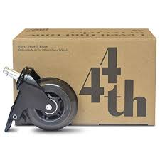 locking caster included heavy duty office chair wheels quiet as a mouse and smooth