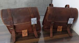luggage motorcycle accessories motorcycle saddlebags 2 side brown leather 1 pair pouch saddle panniers 2 bags