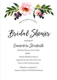 Wedding Shower Invitation Templates Free Template Bridal For