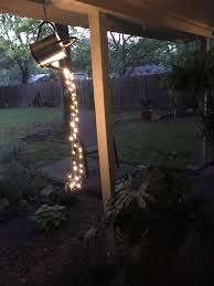 outdoor lighting ideas for backyard. How To Make A Glowing Watering With Fairy Lights Outdoor Lighting Ideas For Backyard
