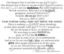 Marianne Williamson Love Quotes Our Deepest Fear by Marianne Williamson Love this poem quoted 75
