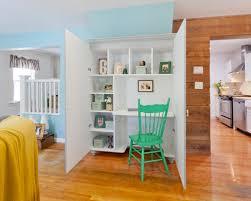 hidden desk furniture. inspiration for an eclectic builtin desk home office remodel in new york hidden furniture