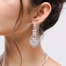 bridal chandelier earrings vintage diamond chandelier earrings cubic zirconia