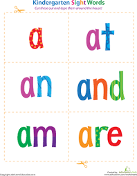 The flash card template here arrives in word format with instructions on the front and back side of the card. Kindergarten Sight Words Flash Cards Education Com