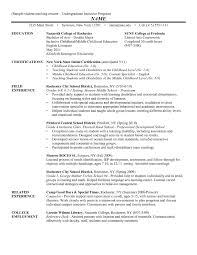 Student Teacher Resume Template Resume Template